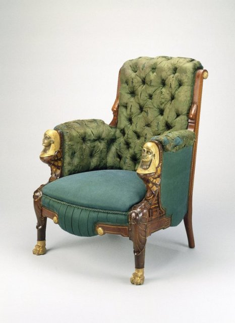 Armchair in Egyptian Revival style,cc 1725