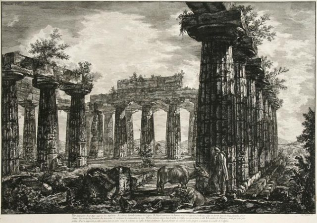 Giovanni Battista Piranesi. Interior view of the so-called College des Anfictions, etching on laid paper, 1778