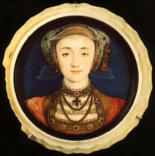 A miniature portrait  of Anne of Cleves
