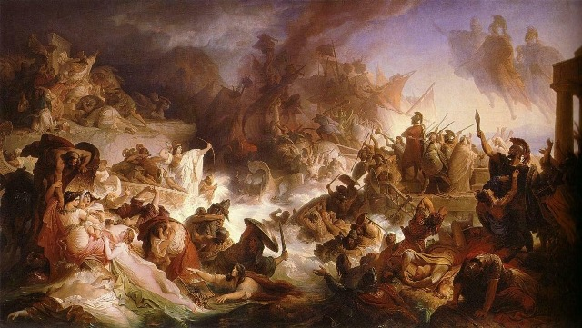 The Battle of Salamis by Wilhelm Kaulbach, 1868