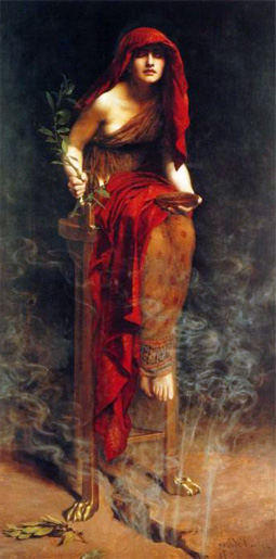 The Pythia which was the designated Oracle of Delphi by John Collier