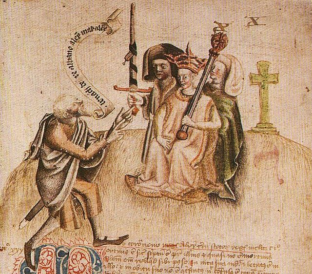 Coronation of King Alexander on Moot Hill, Scone