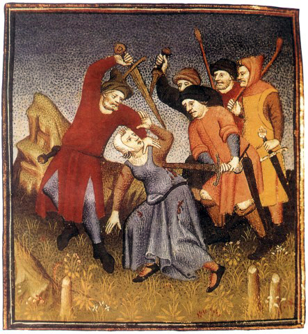 Robbers kill a passer-by. 15th century