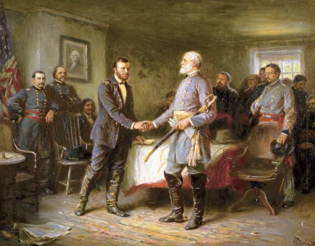 General Lee surrender at Appomattox Court House