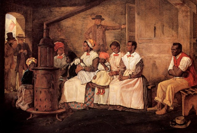 'Slaves Waiting for Sale' by Eyre Crowe (1861)