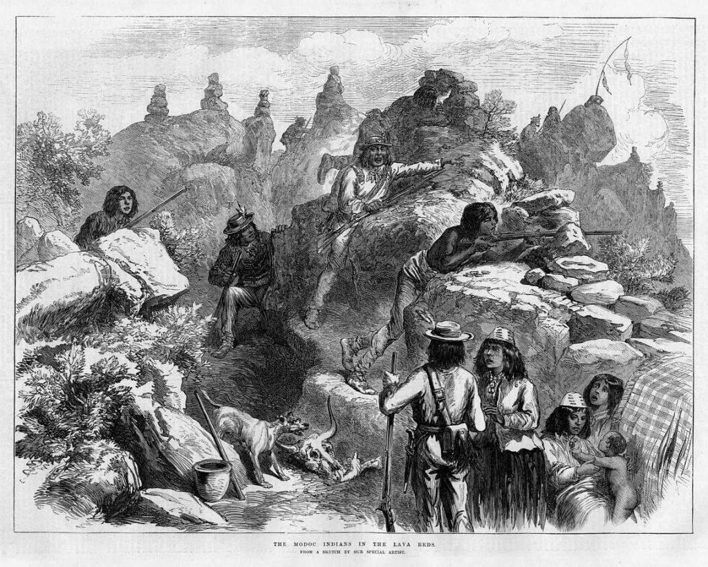 Modoc Indians at the Lava Beds