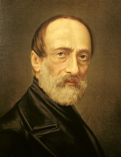 Portrait of Giuseppe Mazzini,oil on canvas,  by Italian School, 19th century
