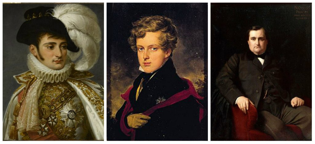 Jerome Bonaparte, Napoleon II and Prince Napoleon